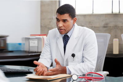 mixed race male doctor,